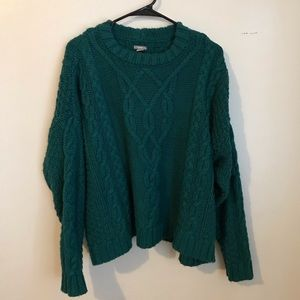 Aerie Oversized Chunky Cableknit Sweater